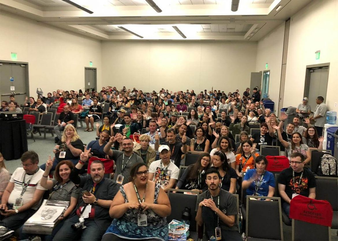 Here There Be Dragons panel audience