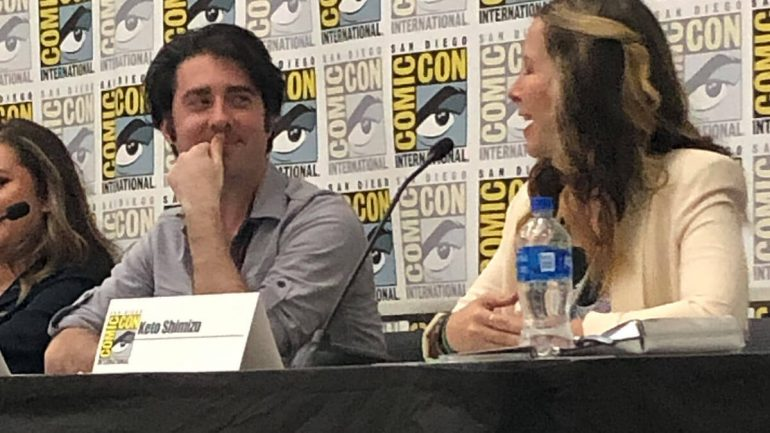 Shaun Barger and Keto Shimizu on the 10 Points to Slytherin panel at San Diego Comic-Con 2019.
