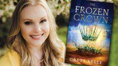 Greta Kelly, author of THE FROZEN CROWN debut fantasy novel from Harper Voyager