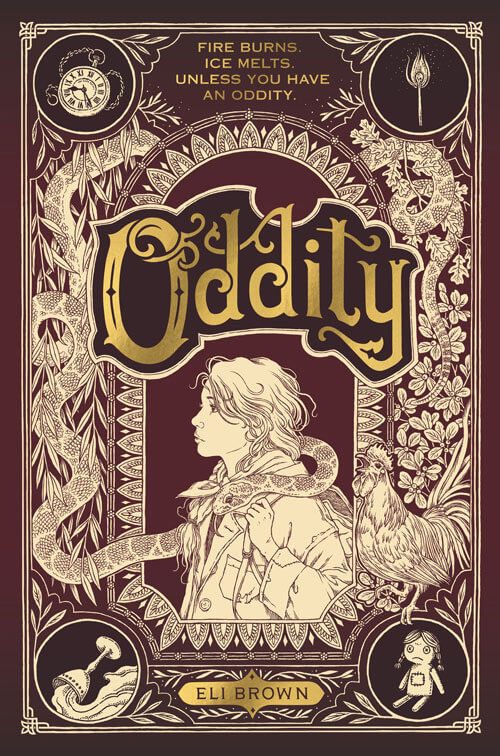 ODDITY by Eli Brown, book cover, middle grade alternate history fantasy novel