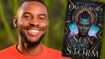 Suyi Davies Okungbowa, author of SON OF THE STORM —Fictitious author interview, podcast and YouTube